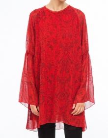 Vestido over corto estampado-Rojo IRO