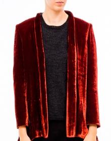 Baggy velvet jacket- Brick MASSCOB