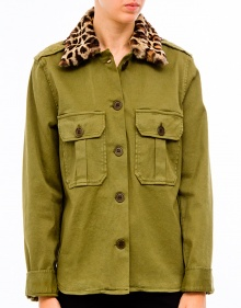 Print neck military jacket  MASSCOB