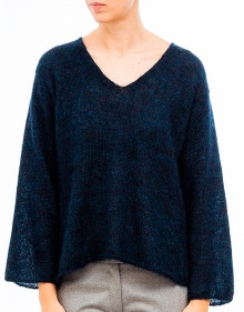 V-neck mohair sweater-Nuit MASSCOB