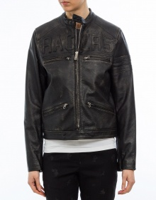 Leather biker jacket GOLDEN GOOSE DELUXE BRAND