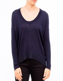 Lurex details sweater-Navy ZADIG & VOLTAIRE