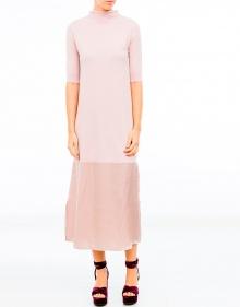 C/Vestido largo punta y rosa TWIN-SET
