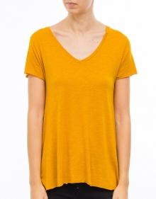 Short sleeved v-neck cotton t-shirt AMERICAN VINTAGE