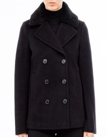 Abrigo corto botones - negro T BY ALEXANDER WANG