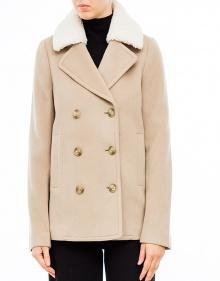 Abrigo corto botones - beige