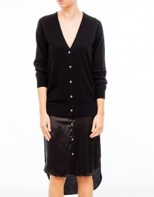 Dress with combination satin jacket