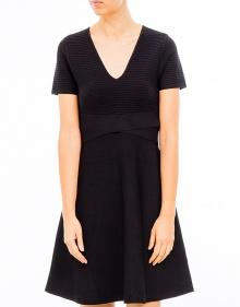 Evase rayon short dress T BY ALEXANDER WANG