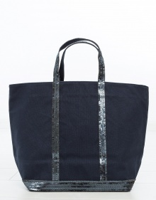 Medium sized cotton Le Cabas - navy VANESSABRUNO