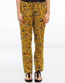 ALKA - Printed cotton trousers - yellow ISABEL MARANT ETOILE