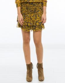 BRINLEY - Falda seda estampada - amarilla ISABEL MARANT ETOILE
