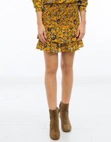 ALFOS - Falda algodón estampado - amarillo ISABEL MARANT ETOILE
