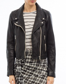 AKEN - Leather biker jacket - black ISABEL MARANT ETOILE