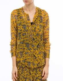 BODEN - Camisa seda estampada - amarillo ISABEL MARANT ETOILE