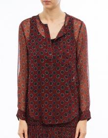 BODEN - Printed silk shirt - burgundy ISABEL MARANT ETOILE