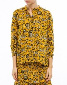 AMARIA - Printed cotton blouse - yellow ISABEL MARANT ETOILE