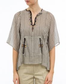 JOY - Blusa rayas y bordados