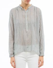 JODEN - Striped cotton shirt - blue ISABEL MARANT ETOILE
