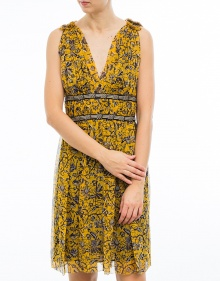 BALZAN - Printed silk dress - yellow ISABEL MARANT ETOILE