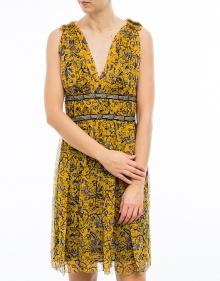 BALZAN - Vestido seda estampada - amarillo ISABEL MARANT ETOILE