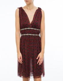 BALZAN - Printed silk dress - burgundy ISABEL MARANT ETOILE