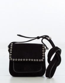 MARFA - Small suede bag - black