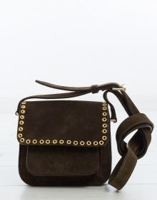 MARFA - Small suede bag - bronze