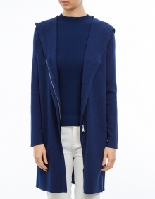 Knitted long jacket - navy TWIN-SET