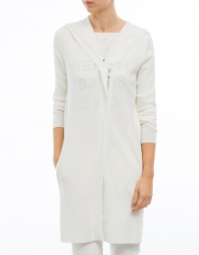 Knitted long jacket - white TWIN-SET