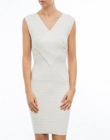 C/Vestido cruzado strech - blanco TWIN-SET