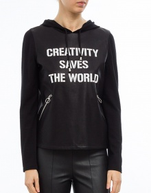 Sudadera ecopiel creativity TWIN-SET