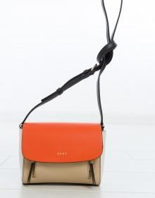 C/ Bolso mini solapa bicolor DKNY