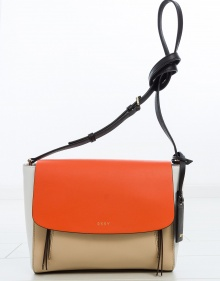 Medium sized crossbody bag - tricolor