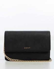 Saffiano crossbody bag - black