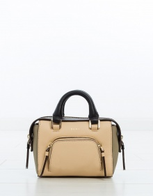 Bolso mini satchel tricolor DKNY