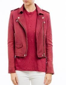 Fitted leather jacket IRO