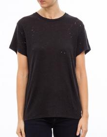Small holes linen T-shirt IRO