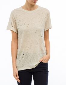 Small holes shiny linen T-shirt IRO