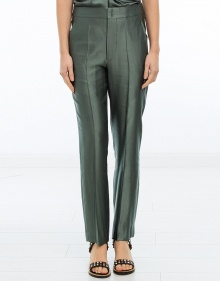 C/ROAN Pantalón satinado verde ISABEL MARANT