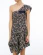 vestidos RICCO - Vestido asimétrico seda estampad ISABEL MARANT