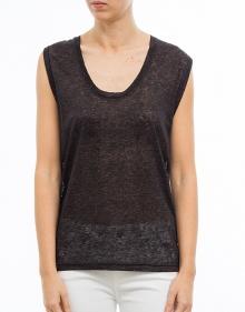 C/MAIK T-shirt lino antracita ISABEL MARANT