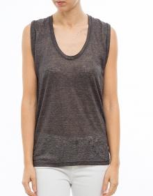 C/MAIK T-shirt lino gris ISABEL MARANT