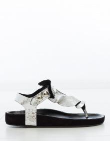 LEAKEY - Anatomic sandal - silver ISABEL MARANT