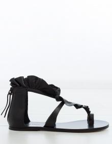 AUDRY - Sandalia plana volante - negro