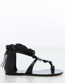 AUDRY - Sandalia plana volante - negro ISABEL MARANT