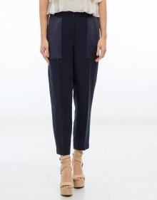 Pantalón lino y raso TWIN-SET