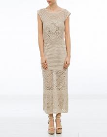 Vestido largo ganchillo - beig TWIN-SET