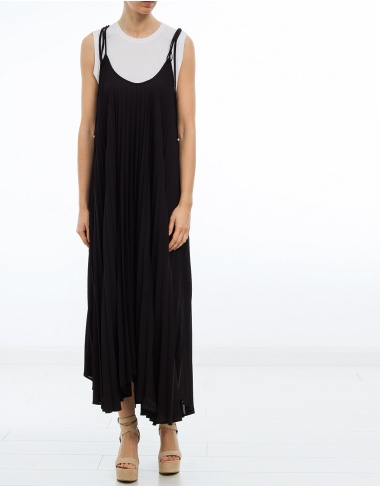 vestidos Vestido largo punto plisado TWIN-SET