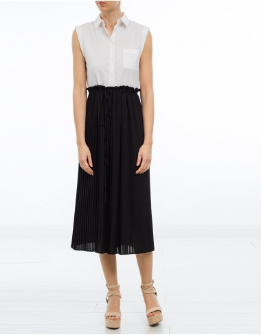 vestidos Camisero bajos plisado TWIN-SET
