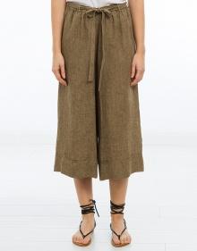 Pantalón ancho y corto lino MASSCOB